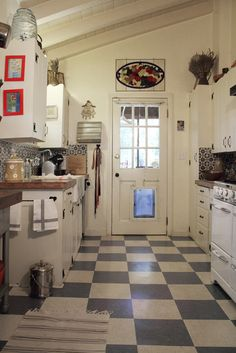 Retro Kitchen Flooring red and white checkerboard floor - where to find it | checkerboard