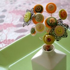 Spring Craft Tutorial: How to Make a Button Bouquet   Meylah