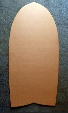 custom wood body board ---a bit plain