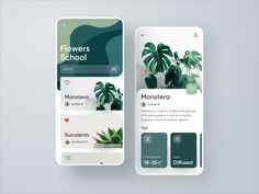 Flower School Plants Application by Konstantin Zhuck for Ron Design on Dribbble The Effective Pictures We Offer You About food App Design A quality picture can tell you many things. You can find the m Coperate Design, App Ui Design, Interface Design, Design Concepts, Flat Design, Interface App, Best Ui Design, Dashboard Design, Icon Design