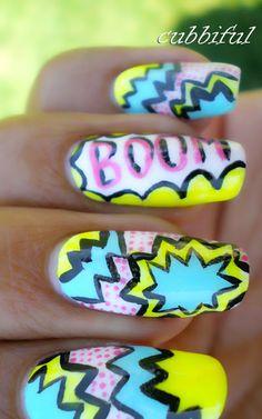 #nailart #nails #polish #BOOM #comic