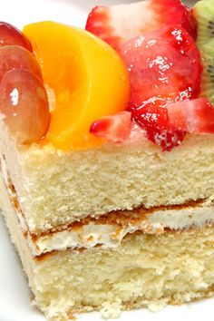 This easy sponge cake recipe is versatile because a slice of this cake is just as nice served as a late morning or afternoon snack with a cup of coffee as it is for dessert after dinner. The concept is simple - a sponge cake is sandwiched together with a vanilla cream frosting and then the top is decorated with the same frosting.