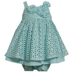 Bonnie Jean Aqua Eyelet Dress. Now $18.99! Only 3-6 months & 24 month sizes available!!