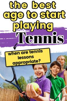 What is the best age to start playing tennis? If you are thinking about putting your child in tennis lessons or signing them up for tennis league you can find out why it is best to start at this age. Tennis Equipment, Tennis Gear, Tennis Tips, Sport Tennis, Tennis Lessons For Kids, How To Play Tennis, Tennis Accessories, Tennis Workout, Tennis Match