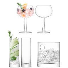 Buy LSA International Gin Glasses and Ice Bucket Gift Set, Clear, 5 Pieces from our Gin Glasses range at John Lewis & Partners. Free Delivery on orders over Gin Glasses, Gin Bar, Branded Gifts, Cocktail Glass, Refreshing Drinks, Gift Guide, Just For You, Handmade, Ice