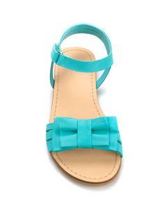 SANDALE EN CUIR ORNÉE D'UN NŒUD - Chaussures - Fille (2-14 ans) - Enfants - ZARA France