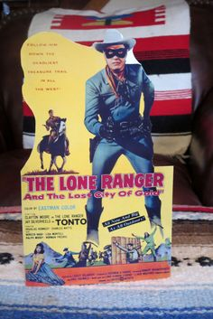 """Lone Ranger & Tonto Lost City of Gold Movie Poster Tabletop Display Standee 10"""""""