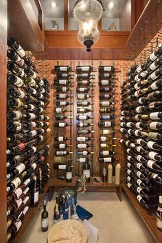 Check out the wine cellar...