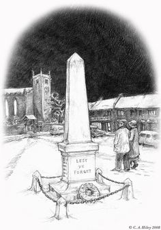 Godric's Hollow memorial from the perspective of muggles and wizards