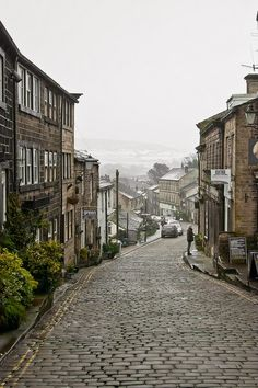 Main Street, Haworth, West Yorkshire, England   Oh! The Places I'd Like to Go!