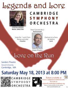 Cambridge Symphony Orchestra - Love on the Run - Saturday, May 18, 2013