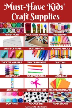 Must-Have kit to stimulate children 18 essential arts and crafts supplies for children to make easy kids art projects Easy Kids Art Projects, Easy Art For Kids, Bible For Kids, Crafts For Kids To Make, Easy Sewing Projects, Kids Craft Supplies, Arts And Crafts Supplies, Christmas Crafts For Kids, Simple Christmas