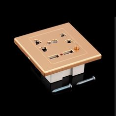 In stock! 1pc Dual USB Electric Wall Charger Station Socket Adapter Power Outlet Switch Panel Newest