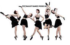 BALLET DANCE POSES SET at Flower Chamber