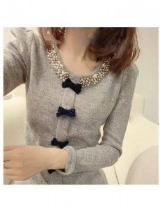 suéter moderno gris