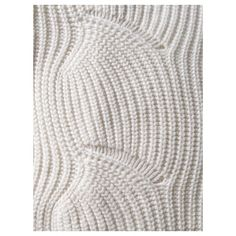 A close up of our Shell Stitch Fisherman Rib. Knitted in Scotland from softest Cashmere & Cotton, it's the perfect layer to wear with a relaxed pant or over a Summer dress. Go to www.bamford.co.uk to see more Summer Knits or head to the Bamford Barn and Draycott Avenue to feel the L