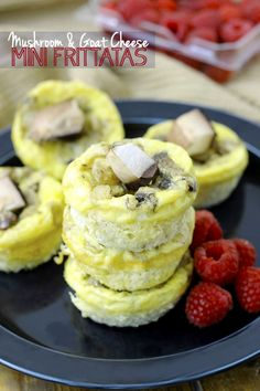 Mushroom and Goat Cheese Mini Frittatas // thehealthymaven.com