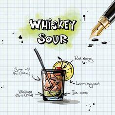 Виски Кислый, Коктейль, Пить, Алкоголь, Рецепт