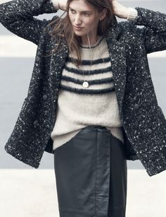 Madewell et Sézane: Tweed coat  #madewellxsezane