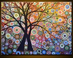 "Amy Giacomelli Painting Modern Landscape ""Magic Garden"", 36"" x 48"" ... extra large canvas, free US shipping"