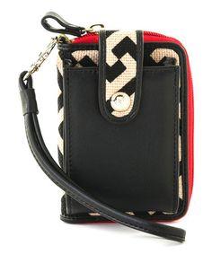 Red & Black Callahan Linen-Leather Blend Cell Phone Case #zulily #zulilyfinds