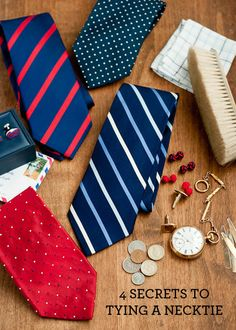 4 Secrets to Tying a Necktie.