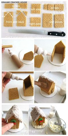 Graham cracker houses don't just have to be for the holidays. You can have fun making this Graham Cracker Barn any time of year. Farm Birthday Cakes, 2nd Birthday Party For Girl, Farm Animal Birthday, Christmas Gingerbread, Gingerbread Cookies, Christmas Cookies, Graham Cracker House, Barn Cake, Vegetarian Cookies
