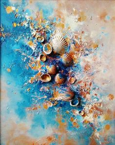 The Future Of Art – Investment Concepts – Buy Abstract Art Right Seashell Painting, Seashell Art, Collage Art, Collage Ideas, Diy Art, Creative Art, Modern Art, Art Projects, Abstract Art