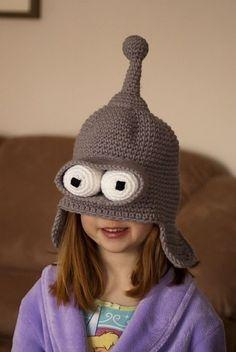 A Bender Hat! Splendid. muy buenoooooo!!!!!!!