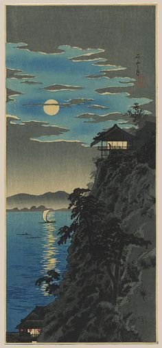 1927 - Shōtei, Takahashi - Moon from Ishiyama