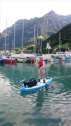 This is me on my board (Fanatic Fly Air just starting out from Flüelen on Lake Lucerne, Switzerland. Mark Schaufelbuehl took the photo Fly Air, Lucerne Switzerland, Seen, Boat, Lucerne, Switzerland, Dinghy, Boats