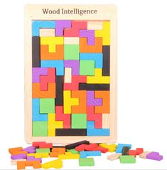 Children's puzzle selling Russia block intellectual blocks wooden jigsaw puzzles wooden - $12.88