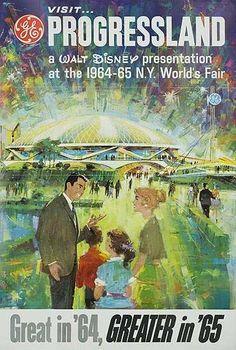 DP Vintage Posters - 1964 1965 NY Worlds Fair Poster Progressland A Walt Disney Presentation
