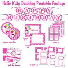 Free Printable Hello Kitty 1st Birthday Invitations – InviteTown