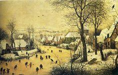 Pieter Bruegel the Elder - Winter landscape with skaters, 1565