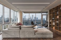 Modern living room lighting   TruLine 1.6A Plaster-In LED system by Pure Lighting