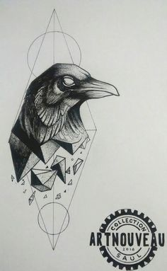 Nordic Runes, Crow, Raven, Art Nouveau, Geek Stuff, Batman, Superhero, Geek Tattoos, Fictional Characters