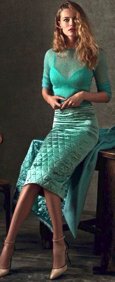Sea green | Minty | outfit, fashion, modeling