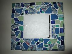 Caribbean colored  mosaic mirror       REDUCED PRICE on Etsy, $30.00
