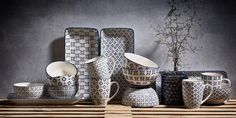 Cana Villa Collection, White / Blue, 350 ml, 262041 Danish Design, Dining Chairs, Villa, Interior Design, Kitchen, Blue, Inspiration, Furniture, Collection