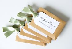 Simple Wedding Favours from Twenty-Seven | Customizable Seed Packets as Wedding Favors.
