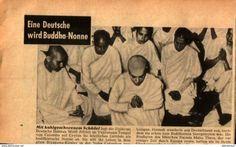 Bücher, Zeitschriften, Comics - Eine Deutsche wird Buddha-Nonne / Druck,entnommen aus Zeitschrift,1955