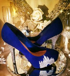 Disney castle crystal shoes heels