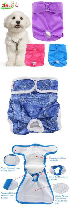 [Visit to Buy] Ohbabyka Reusable Dog Diapers Washable Doggie Diapers Lovely Dog Nappy Changing Pet Dog Pant Stylish Sanitary Dog Pants 9colors #Advertisement