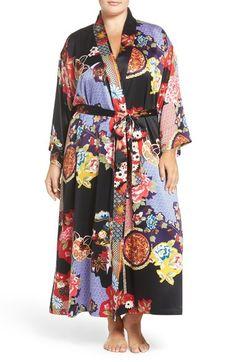 72d9a69915567 Main Image - Natori Print Robe (Plus Size) Plus Size Clothing Sale