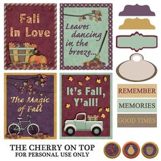 Free Fall Printables | The Cherry on Top