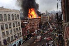 Photos de l'immeuble en feu à New York ! - LookMoiCa.fr