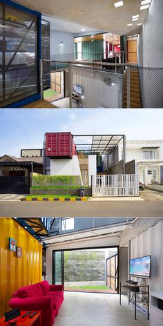 Architect turns stack of shipping containers into modern home in Jakarta…