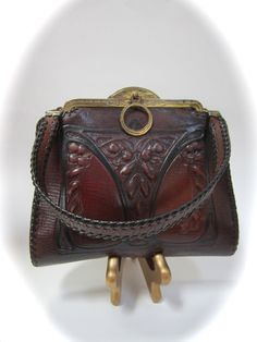 Art Nouveau arts and crafts leather purse by by dejavuvintageretro, $95.00