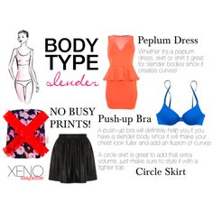 """""""Dressing For Your Body Type: Slender"""" by delightoftheyoung on Polyvore"""
